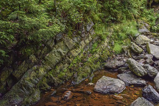 River, Water, Nature, Landscape, Wet, Stone, Bach