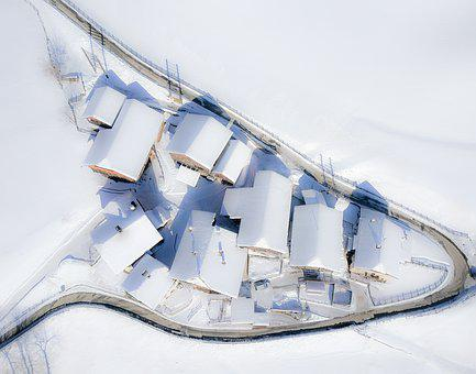 Houses, Mountain, Agriculture, Alps, High, Snow, Winter