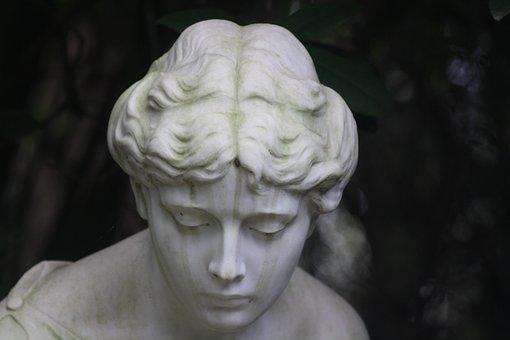 Sculpture, Angel, Park Cemetery, Ohlsdorfer Cemetery
