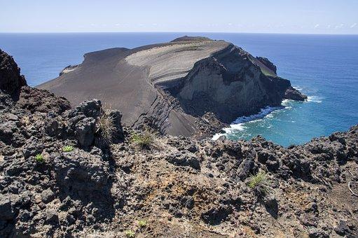 Azores, Faial, Volcano, Ash, Crater