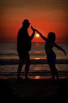 Sunset, Colorful, Shadow, Shadow Play, Human, Beach