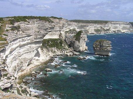 Bonifacio, Corsica, Cliffs, Cliff, Rocky Coast