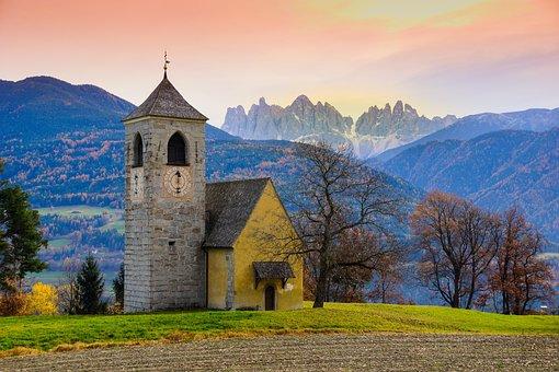 Church, Mountains, Bressanone, Brixen, Tops, Landscape