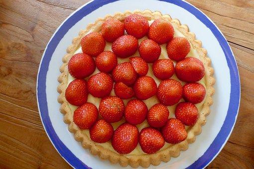 Cake, Delicious, Strawberry, Strawberry Cake