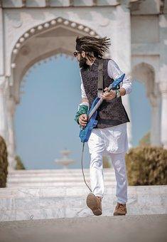 Style, Guitar, Rock, Fun, Music, Rocker, Hair, Fashion