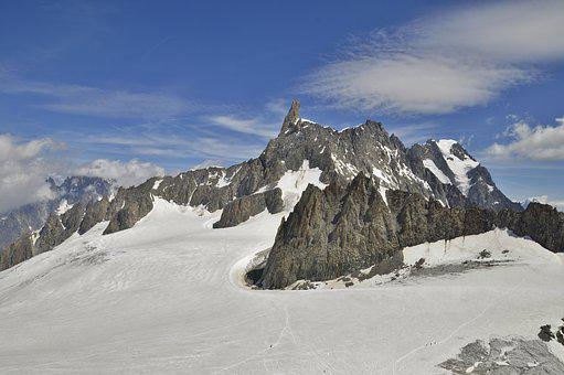 Mont Blanc, Glacier, Giant's Tooth, Mountain, Snow