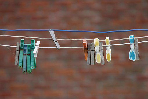 Clothespins, Clothes Line, Hang, Dry, Laundry, Wash