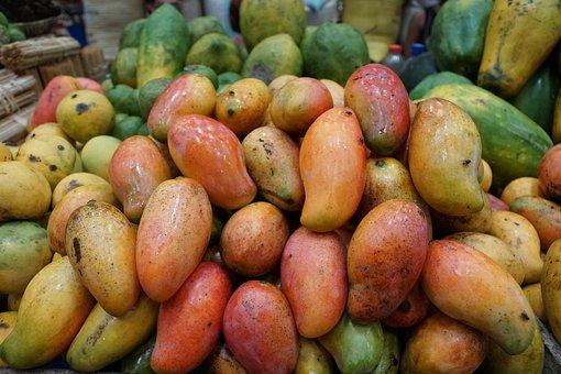 Smothie, Fruit, Drink, Glass, Healthy, Peach, Mango