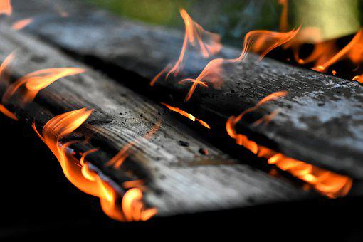 Fire, Flame, Wood, Charred, Ash, Brand, Burn, Heat, Hot