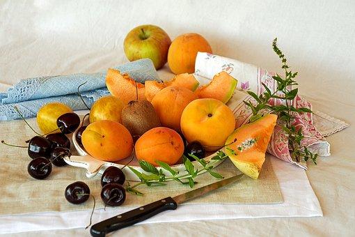Fruit, Summer, Hot, Summer Fruit, Apricots, Peaches