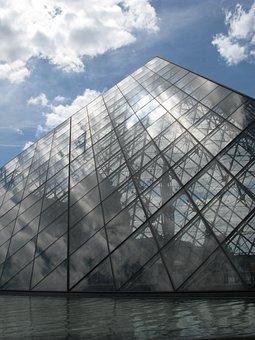 France, Paris, Louvre, Pyramid, History, Monument
