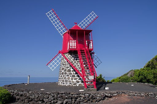 Azores, Mill, Wings, Wind Energy