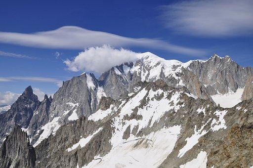 Mont Blanc, Massive, Snow, Alps, Mountain, Landscape