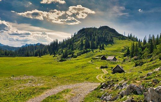 Landscape, Nature, Rural, Mountains, Alpine