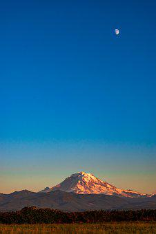 Mount Rainier, Washington, Nature, Mountains, Landscape