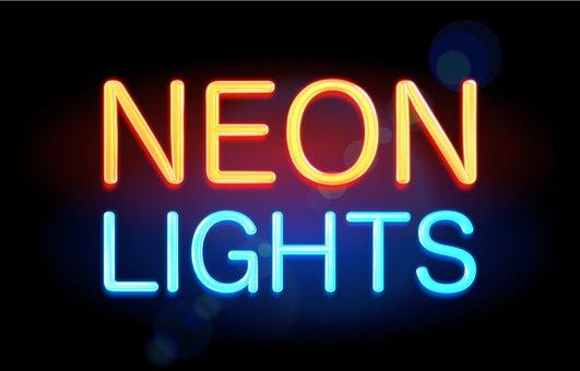 Neon Light, Neon Text, Neon, Neon Lettering