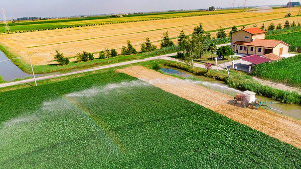 Campaign, Irrigation, Rainbow, Villa, Country Cottage