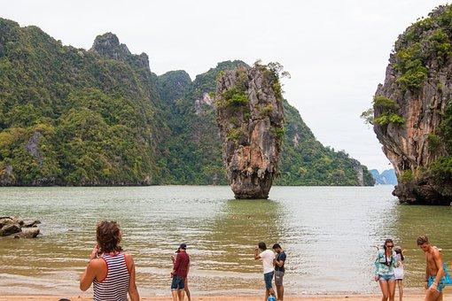 James Bond Island, Island, Thailand, Sea, Nature, Rock