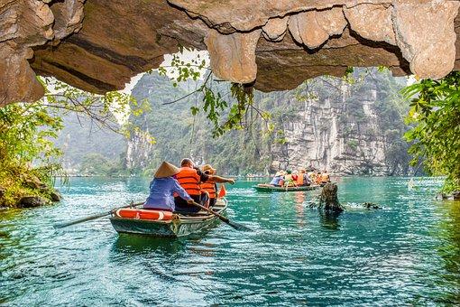 Lake, Sea, Cave, Ninhbinh, Nature, Landscape, Blue