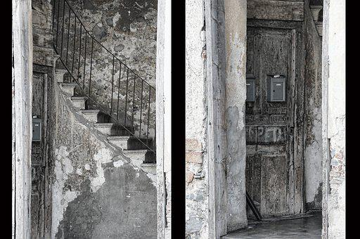 Stairs, Door, Architecture, Input, Facade, Old
