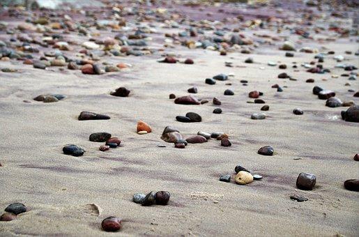 Sea, Beach, Stones, Pebbles, Coast, Sand, Water