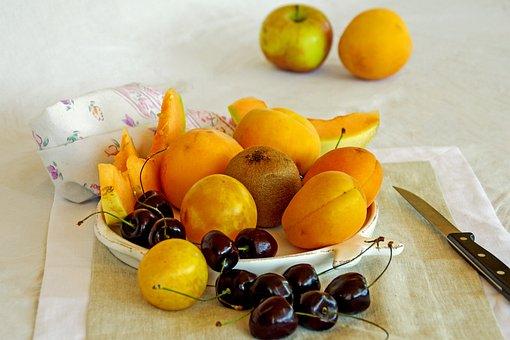 Summer, Hot, Summer Fruit, Fruit, Apricots, Peaches