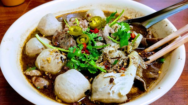 Boat Noodle Bowl, Thai, Blood, Delicious, California