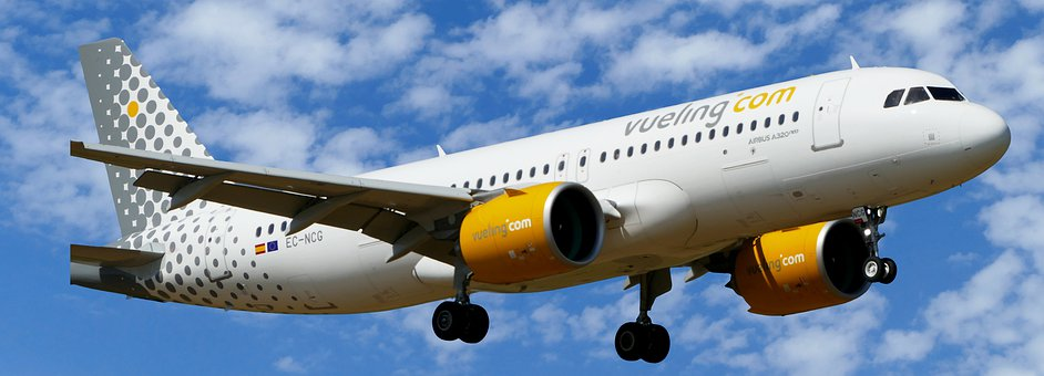 Aircraft, Traffic, Vueling, Landing, Airbus A320neo