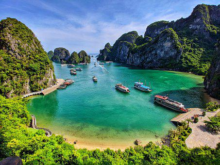 Halong, Halongbay, Nature, Travel, Lake, Water