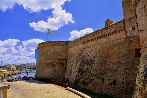 Castle, Wall, Gallipoli, Salento, Puglia, Old