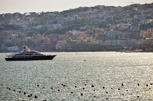Naples, Sea, Italy, Landscape, Vesuvius, Waterfront