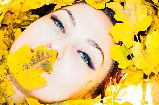 Autumn, Face, Girl, Fall, Portrait, Female, Woman