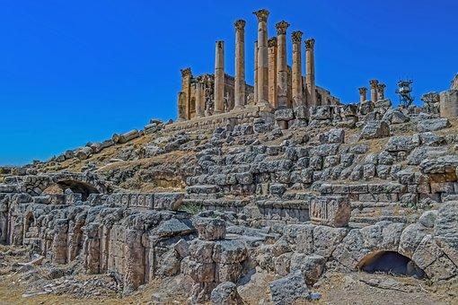 Gerasa, Jordan, Ancient Site, Ruin, Travel