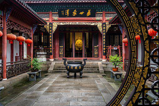 Temple, Religion, China, Asia, Buddhism, Architecture