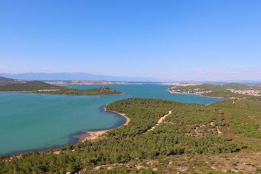 Marine, Forest, Mountain, Landscape, Ayvalýk, Turkey