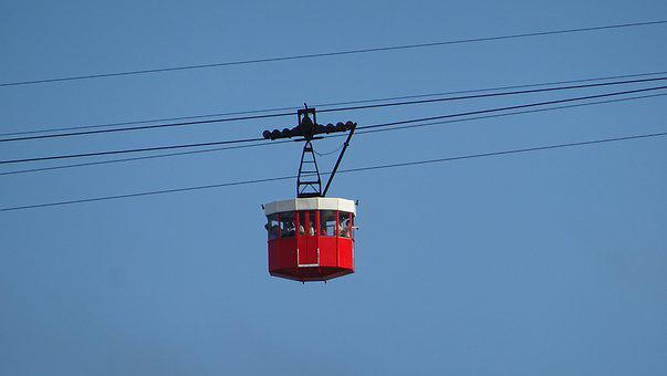 Cable Car, Port, Barcelona, City, Montjuic