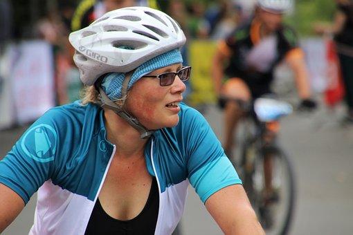 Cyclist, Cycling, Helmet, She, Bike Race, Perseverance