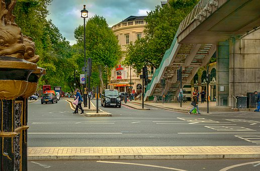 London, City, Road, Taxi, Bridge, England, Architecture
