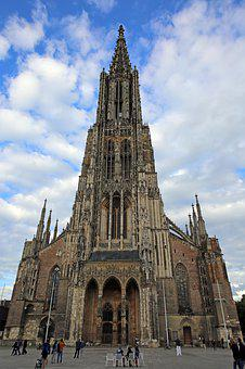 Ulm, Ulm Cathedral, Church, Building, Architecture