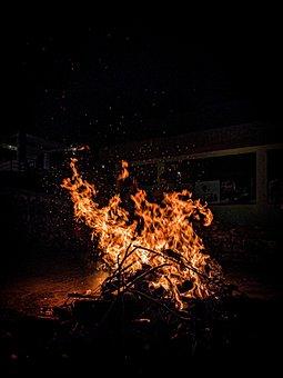 Fire, Campfire, Red, Orange, Cool, Winter, Chill, Burn