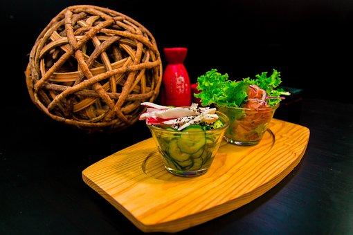 Cucumber, Salmon, Japanese