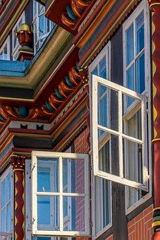 Architecture, Detail, Casement, Window, Open, Air