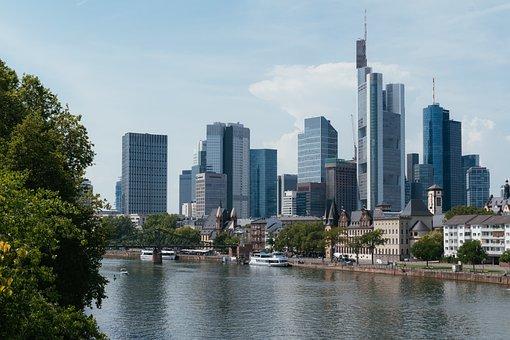 Frankfurt, Skyline, Germany, City, Architecture