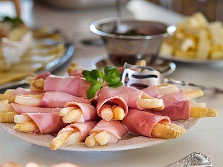 Asparagus, Breakfast, Ham, Delicious, Food, Meat