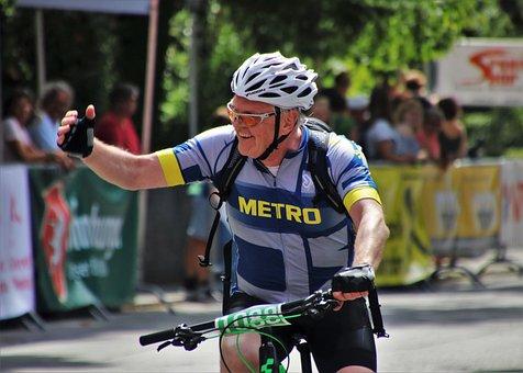 Professional Road Racing Cyclist, Helmet, Bike Race