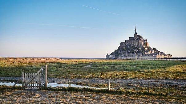 World Heritage, Mont-saint-michel, Normandy, France