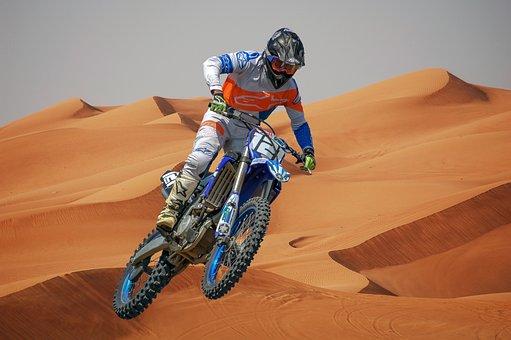 Motocross, Desert, Motorcycle, Competition, Moto, Jump