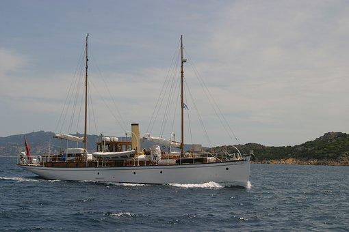 Motor Yacht, Sardinia, La Maddalena, Sea, Caprera