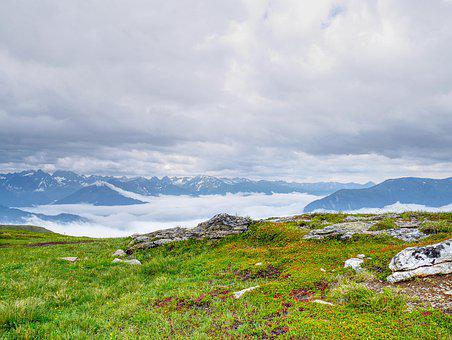 Mountains, Clouds, Landscape, Panorama, Nature, Sky