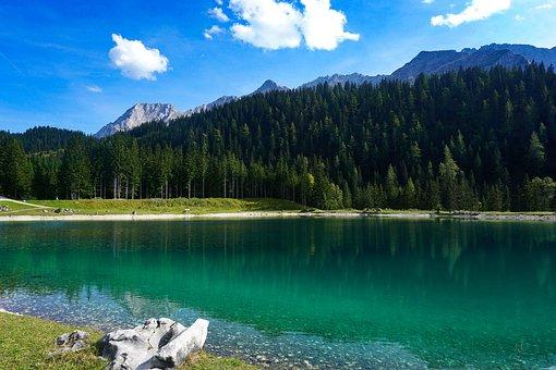 Mountain, Lake, Landscape, Nature, Reflection, Clouds